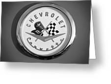 1957 Chevrolet Corvette Emblem Greeting Card