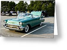 1957 Chevy Bel Air Green Greeting Card