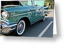 1957 Chevy Bel Air Green Right Side Greeting Card