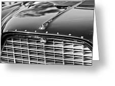 1957 Chrysler 300c Grille Emblem Greeting Card