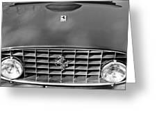 1957 Ferrari 410 Superamerica Coupe Grille Emblem Greeting Card