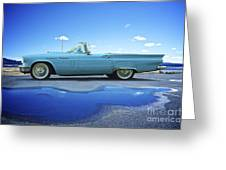 1957 Ford Thunderbird Convertible Greeting Card