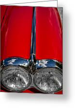 1958 Chevrolet Corvette Headlights Greeting Card