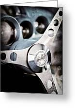 1958 Chevrolet Corvette Steering Wheel Emblem Greeting Card