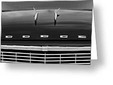 1958 Dodge Coronet Super D-500 Convertible Hood Ornament Greeting Card by Jill Reger