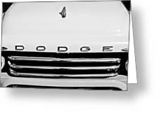 1958 Dodge Sweptside Truck Grille Greeting Card