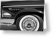 1958 Edsel Pacer Wheel Emblem Greeting Card