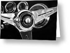 1958 Maserati Steering Wheel Emblem Greeting Card