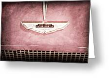 1959 Aston Martin Db Mk IIib Drophead Coupe Emblem Greeting Card