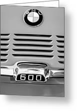 1959 Bmw 600 Isetta Emblem Greeting Card