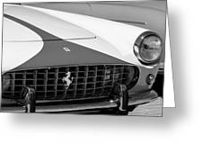 1959 Ferrari 250 Gt Coupe Grille Emblems Greeting Card