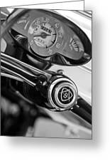 1959 Fiat Bianchina Semi-convertible Series II Steering Wheel Greeting Card