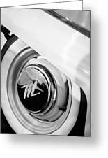 1959 Nash Metropolitan 1500 Convertible Wheel Emblem Greeting Card