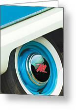 1959 Nash Metropolitan Wheel Emblem Greeting Card