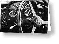 1960 Aston Martin Db4 Gt Coupe' Steering Wheel Emblem Greeting Card