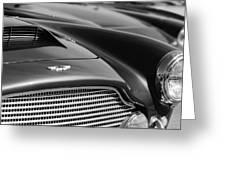 1960 Aston Martin Db4 Series II Grille - Hood Emblem Greeting Card