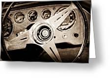 1960 Maserati Steering Wheel Emblem Greeting Card