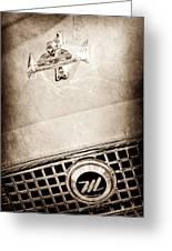 1960 Nash Metropolitan Hood Ornament - Grille Emblem Greeting Card