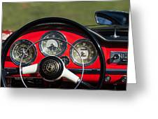 1961 Alfa-romeo Giulietta Spider Steering Wheel Emblem Greeting Card