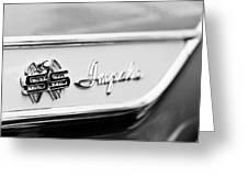 1961 Chevrolet Impala Ss Emblem Greeting Card