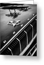 1962 Dodge Polara 500 Grille - Hood Emblem Greeting Card