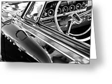 1962 Dodge Polara 500 Side Emblem - Steering Wheel Greeting Card