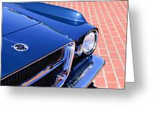 1962 Ghia L6.4 Coupe Grille Emblem Greeting Card