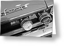 1962 Plymouth Fury Taillights And Emblem Greeting Card