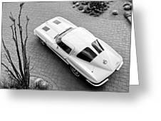 1963 Chevrolet Corvette Split Window -440bw Greeting Card