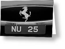 1963 Ferrari 250 Gto Scaglietti Berlinetta Grille Emblem Greeting Card