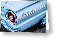 1963 Ford Falcon Futura Convertible Taillight Emblem Greeting Card by Jill Reger