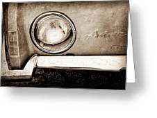 1963 Studebaker Avanti Emblem Greeting Card