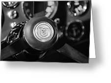 1964 Aston Martin Steering Wheel Emblem Greeting Card
