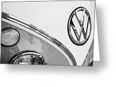 1964 Volkswagen Samba 21 Window Bus Vw Emblem Greeting Card