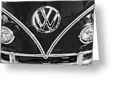 1964 Volkswagen Vw Double Cab Emblem Greeting Card