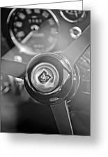 1965 Aston Martin Db5 Coupe Rhd Steering Wheel Greeting Card