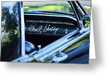 1965 Shelby Prototype Ford Mustang Carroll Shelby Signature Greeting Card