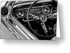 1965 Shelby Prototype Ford Mustang Steering Wheel Greeting Card