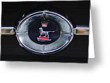 1965 Sunbeam Tiger Grille Emblem Greeting Card