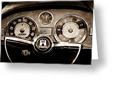 1966 Volkswagen Vw Karmann Ghia Steering Wheel Greeting Card