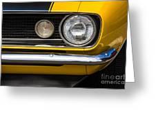 1967 Camaro Headlight Greeting Card
