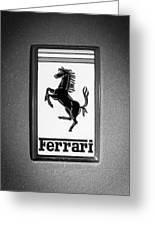 1967 Ferrari 330 Gts Emblem Greeting Card