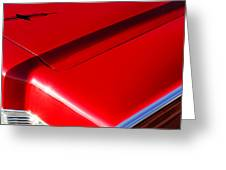 1967 Lincoln Continental Hood Ornament Greeting Card