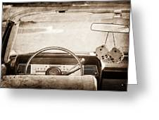 1967 Lincoln Continental Steering Wheel Greeting Card