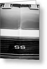 1968 Chevrolet Camaro Ss Grille Emblem Greeting Card