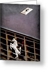 1968 Ferrari 365 Gtc Hood Emblem - Grille Emblem Greeting Card