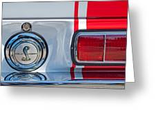 1968 Ford Mustang Fastback 427 Ci - Cobra Emblem Greeting Card