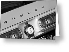 1968 Shelby Gt500 Kr Fastback Rear Emblem - Taillights Greeting Card