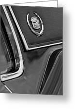 1969 Cadillac Eldorado Emblem Greeting Card