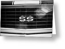 1969 Chevrolet Camaro Rs-ss Indy Pace Car Replica Grille Emblem Greeting Card